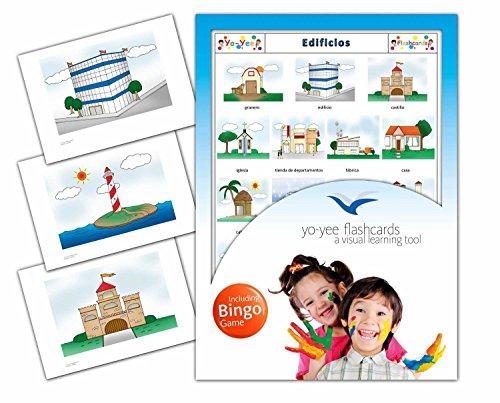 Yo-Yee Flashcards Bildkarten mit passendem Bingospiel für den Spanischunterricht - Gebäude - Zur Sprachförderung in Kindergarten und Grundschulen