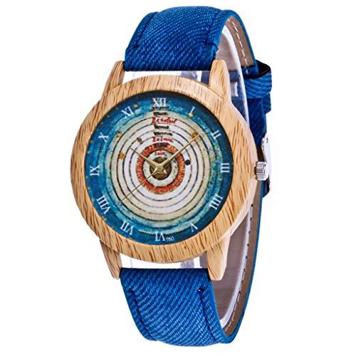 IG Invictus Damen Mode Casual Lederstrap Analog Quarz Runde Uhr T50 N Quarzuhr Blaue Quarz Uhr