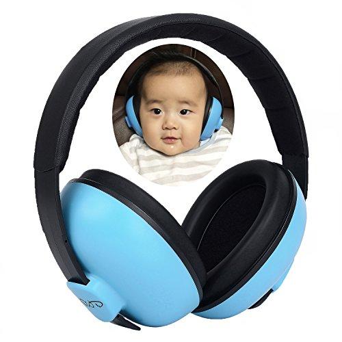 Protección Auditiva para Bebés Orejera Antiruido Niños Autismo 0-5 Años 31dB NRR Cancelación de Ruido Auriculares para Dormir Estudiar Avión Conciertos Teatro Fuegos Artificiales, Azul