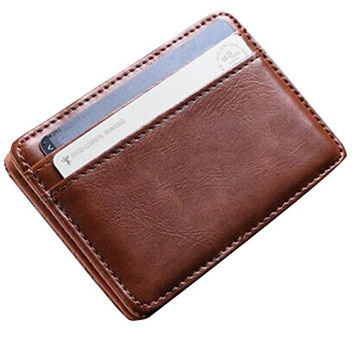 Männer Mini Kreative Brieftasche HARRYSTORE Leder Brieftasche ID Kreditkarteninhaber Mehrschicht Männlichen Kleine Brieftasche (Braun) (Wallet Zubehör Id)