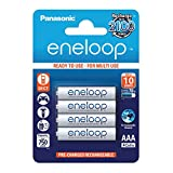 Panasonic eneloop, Ready-to-Use Ni-MH Akku, AAA Micro, 4er Pack, min. 750 mAh,...