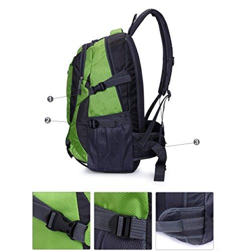 LAIDAYE Borsa A Tracolla Degli Uomini Borsa Da Montagna Di Grande Capacità Borsa Da Viaggio Viaggio Backpacker Casual Computer Bag Sport All'aria Aperta No Travel Bag Green