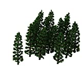 20pcs Plastique Sapin Train Miniature Paysages Paysage Ho 1: 100