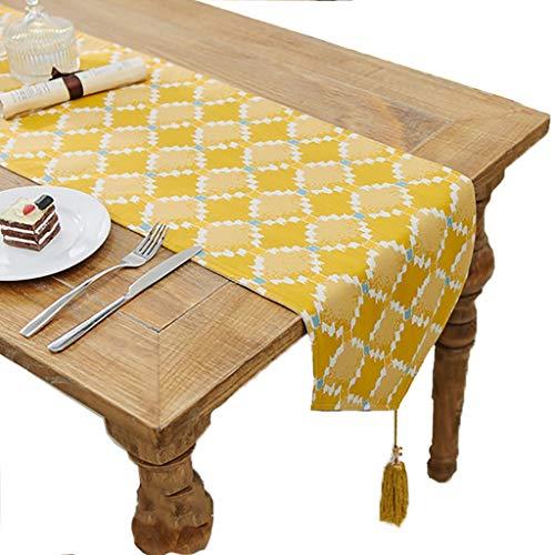 LF Fashion Tischläufer für Feste oder Hochzeiten im Alltag, mehrere Größen zur Auswahl, grün/gelb (Farbe : Grün, Größe : 30×180cm)