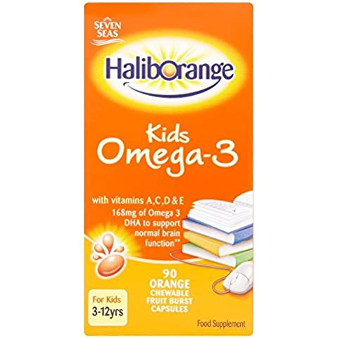 Omega 3 Chewy Orange - Contains Aspartame - 90tabs - Chewy Dolce