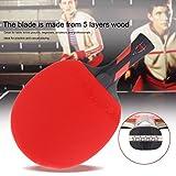 Gugutogo Reiz 5étoiles de tennis de table Raquette ping pong Paddle Raquette de match d'entraînement