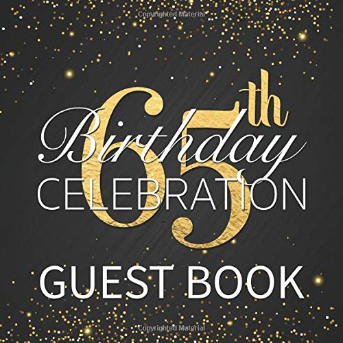 ation Guest Book: Beautiful Matte Black Printed Cover Birthday Party Guest Book with Printed Gold Glitter and Sparkle Effect ()