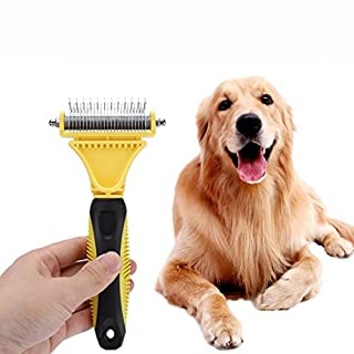 AmaMary88 Pet Hair Remover,AmaMary Stainless Steel Professional Open Large Dog Hair Knot Rake Pet Comb