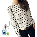 Tonsee® Fashion Womens Ladies Loose Chiffon Tops Long Sleeve Shirt Casual Blouse