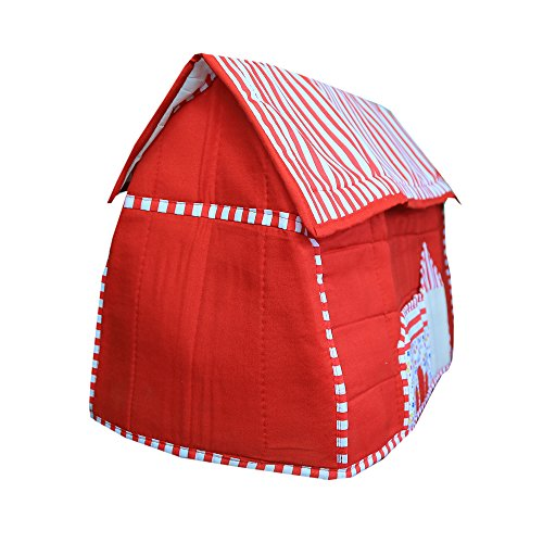 Kuber Industries™ Stylish Hut Design Sewing Machine Cover (Red) - KI3500