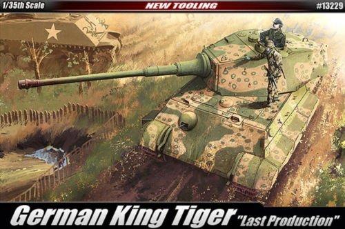 Academy 1/35 German King Tiger Last Production Tank Plastic Model Kit #13229
