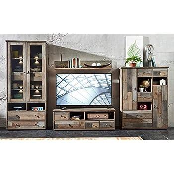 Fernsehwand schiefer  Wohnzimmerschrank, Wohnwand, Schrankwand, Anbauwand, Fernsehwand ...