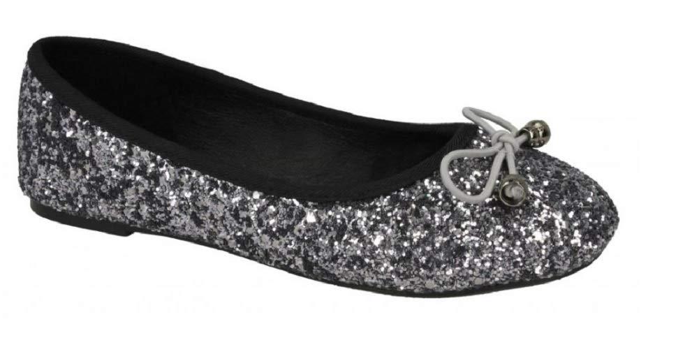 3036226dd Girls Ballet Flats Glitter Ballerina Shoes Size 10 11 12 13 1 2 ...