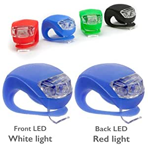 LED Front & Rear Bike Lights (Blue)