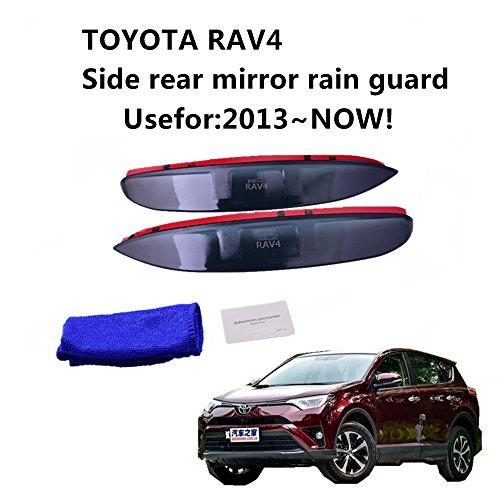 aunazz/Rear View Seite Spiegel Sonne Visier Schatten Regen Schild Board Universal für Toyota RAV42013–2017Rückspiegel (Visier Toyota)