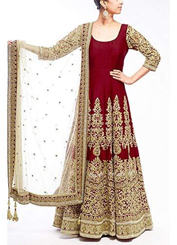 Banglori silk with heavy embroidery work designer maroon lehengas