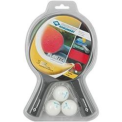 Donic-Schildkröt TT-Set Playtec 2er im Blister Wetterfest Outdoor - Kit de ping pong, color gris / verde, talla Talla única