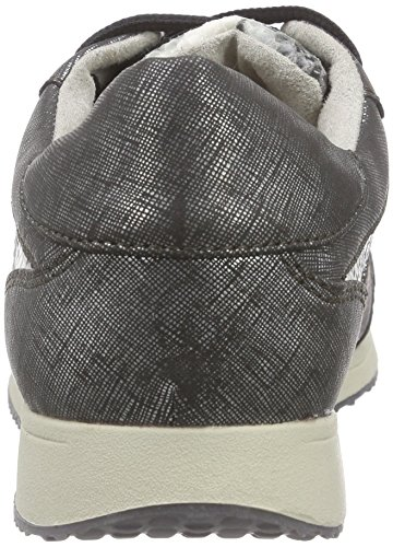 Tamaris Damen 23661 Sneakers Schwarz (BLK METAL/FLOW 092)