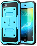 iPod Touch 6th Generation Case, [Heavy Duty] i-Blason Apple iTouch 6 Case Armorbox [Dual Layer] Hybrid Fullbody Case w Front Cover and Builtin Screen Protector / Impact Resistant Bumper (Blue)