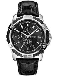 Guess–Reloj de pulsera hombre Fiber Cronógrafo Cuarzo Piel w14558g1
