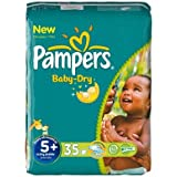 Pampers - P04275100 - Couches Baby Dry junior + T5 + 13/27kg format Géant - 35 couches