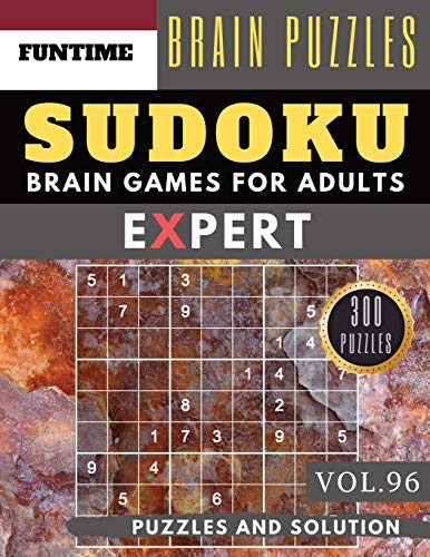 Expert SUDOKU: 300 SUDOKU extremely hard puzzle books   sudoku hard to  extreme difficulty Maths Book Puzzles and Solutions times for Adult and  Senior