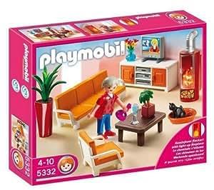 Playmobil 5332 salon avec chemin e 5335 salle for Salle a manger playmobil 5335