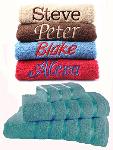 1fde1f7f71e Dream Zone Personalised Embroidered Towels Ideal Gift Set ANY NAME