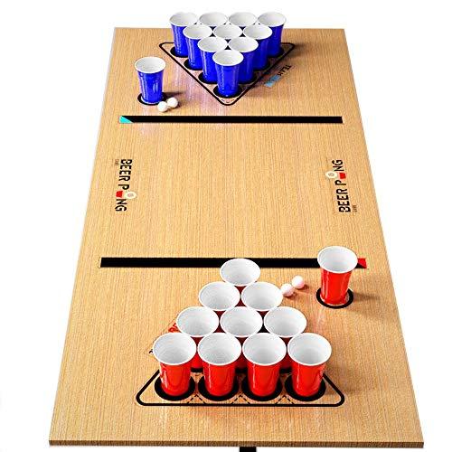Premium Beer Pong Set · Stabile Becher und Bälle · Aufkleber für Spielfeld · 16 oz American Cups · Wiederverwendbar und Spülmaschinenfest · für Party, Turniere, Geburtstag