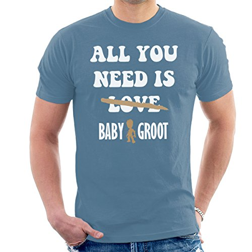 Guardians Of The Galaxy All You Need Is Baby Groot Men's T-Shirt Indigo Blue