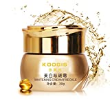 30g Crema de peca blanqueadora Potente,Elimina Las Manchas de acné Melasma Pigment Melanin, Crema para el Cuidado de la Cara