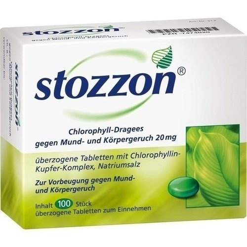Stozzon Chlorophyll-Dragees, 100 St. Tabletten