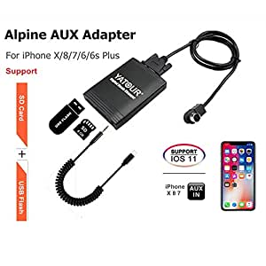 alpine iphone adaptateur auxiliaire st r o digital interface d 39 entr e audio de voiture avec. Black Bedroom Furniture Sets. Home Design Ideas