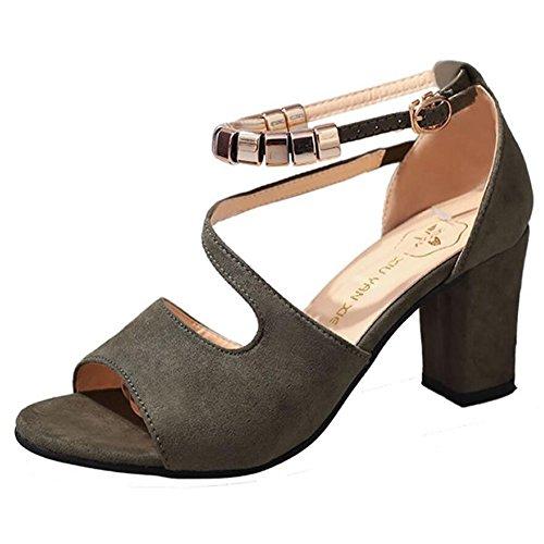 Chaussures pour femmes en cuir en simili-cuir d'été de base talons de pompe pour Casual noir gris vert rose GAOLIXIA