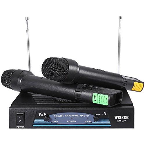 Rishil World WEISRE WM-03V Professional 220-270MHz Karaoke KTV Wireless Handheld Vhf Transmitter Microphone
