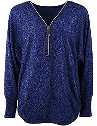 Emma & Giovanni - Damen - Langarmshirt - Pullover - Top & Shirt