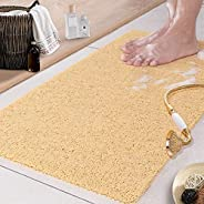 Shower Mat Non Slip Soft Textured Tub Mat VAODO Bath Mat for Textured Tub Surface PVC Loofah Mats for Shower a
