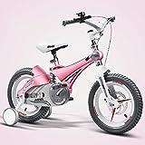 Bicyclehx Sport sicher Kind Fahrrad Laufband 12/14/16 Zoll Kinder Fahrrad Flexible Angepasst Metall Legierung Kinder Fahrrad für Kinder Alter 4-5 Jahre alte Kinder (Color : Pink, Größe : 12 inch)