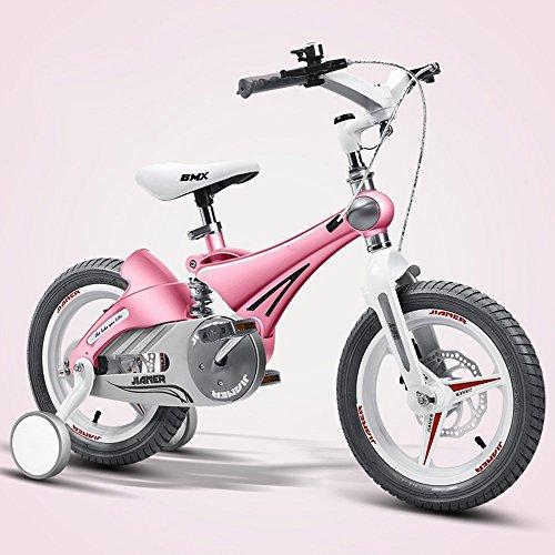 Bicyclehx Cinta de correr de deporte infantil segura bicicleta 12/14/16 pulgadas bicicleta de niños flexible Ajustable aleación de metal Bicicleta de los niños para niños de 4-5 años de edad los niños