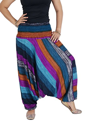 AuthenticAsia Damen Harem Hose Mehrfarbig mehrfarbig One size  Gr. One size , violett (Thermal Sleeve Long Floral)