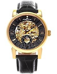 Lindberg & Sons Herren-reloj analógico de pulsera automático de cuero SK14H049