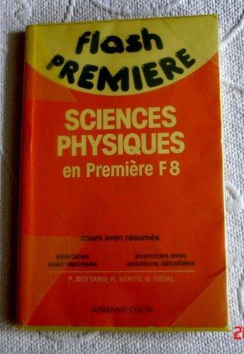 Sciences physiques, 1ère F8