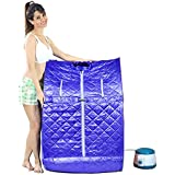 Kawachi Portable Folding Personal Steam Bath - Sapphireblue