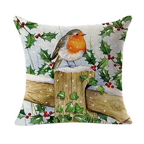 gillberry Vintage Weihnachten Santa Claus Sofa Bett Kissenbezug Home Decor, Kinder unisex, D