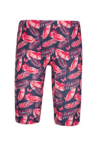Mountain Warehouse Kids Rash Shorts - UPF50+ Quick Drying, Stretchy Fabric With Sun Protection & Flatseams - Ideal as Swimwear & For Playing Outdoors Pink 5-6 Years