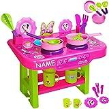 Unbekannt große Kinderküche - incl. Zubehör ! -  Disney Minnie Mouse  - incl. Name - für Kinder - Geschirr & Töpfe - Spielküche aus Kunststoff / Plastik - Kochfeld / ..