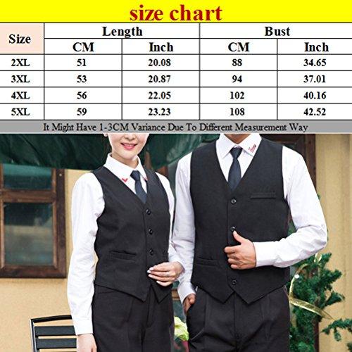 Zhuhaitf Haute qualité Black Modern Unisex Work Clothing Hotel Waiter Chefs Vest Black