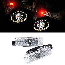 GEEANDLY 2 pezzi auto porta Logo illuminazione Entry proiettore cortesia passo fantasma ombra proiettore luci benvenuto Luce Kit
