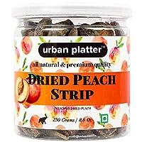 Urban Platter Dried Peach Strip, 250g / 8.82oz [Fruity, High Fiber, Healthy Snack]