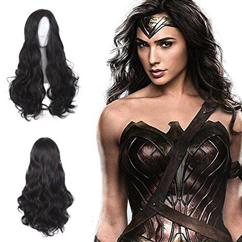 Ani·Lnc lange gewellte Cosplay Perücken Wonder Women (Batman 66 Kostüm)